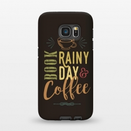 Galaxy S7  Book, Rainy Day & Coffee (a master blend) by Dellán