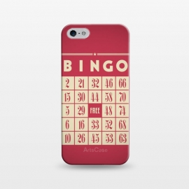 iPhone 5/5E/5s  Bingo! by Dellán (games,hobby,tabletop game,retro,bingo,numbers,vintage,geek)