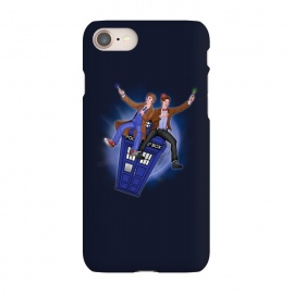 iPhone 7 SlimFit THE DOCTOR'S TIMEY-WIMEY ADVENTURE by SKULLPY (DR WHO,BILL AND TED,MOVIES, TV SHOW,TARDIS,DOCTOR,NERD, NERDY,MASHUP,10TH DOCTOR, 11TH DOCTOR,POP)