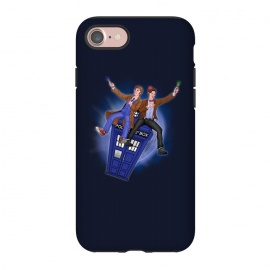 iPhone 8/7  THE DOCTOR'S TIMEY-WIMEY ADVENTURE by SKULLPY (DR WHO,BILL AND TED,MOVIES, TV SHOW,TARDIS,DOCTOR,NERD, NERDY,MASHUP,10TH DOCTOR, 11TH DOCTOR,POP)