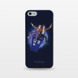 iPhone 5/5E/5s  THE DOCTOR'S TIMEY-WIMEY ADVENTURE by SKULLPY (DR WHO,BILL AND TED,MOVIES, TV SHOW,TARDIS,DOCTOR,NERD, NERDY,MASHUP,10TH DOCTOR, 11TH DOCTOR,POP)