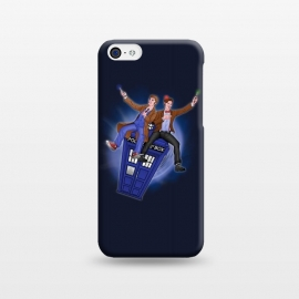 iPhone 5C  THE DOCTOR'S TIMEY-WIMEY ADVENTURE by SKULLPY (DR WHO,BILL AND TED,MOVIES, TV SHOW,TARDIS,DOCTOR,NERD, NERDY,MASHUP,10TH DOCTOR, 11TH DOCTOR,POP)