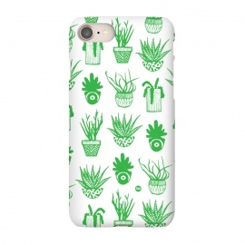 iPhone 7  Green Succulents by Paula Lukey