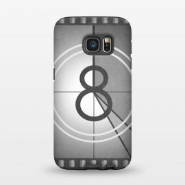 Galaxy S7 StrongFit Vintage Cinema Frame by Dellán (cinema,movie,hollywood,tv,actor,actrees,tv show,retro,vintage,classic,eight,video,hobby,gender neutral,fashion,black and white,grunge style)