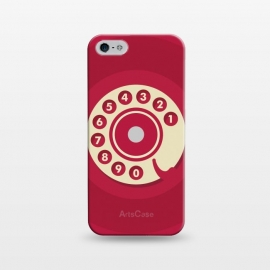 iPhone 5/5E/5s  Vintage Red Telephone by Dellán (retro,phone,smart phone,telephone,vintage,red,classic,call,funny,numbers,gender neutral,wonan fashion,men fashion,geek,hipster,collectable,minimalist)
