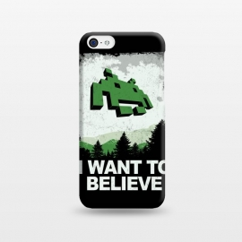 iPhone 5C  I WANT TO BELIEVE by SKULLPY (SKULLPY,XFILES,MOVIES, FILMS, TV, TV SHOWS,SPACE INVADERS,80'S,90'S,80S,90S,EIGHTIES, NINETIES,MULDER, SCULLY,PIXEL, PIXELART, RETROGAMING,INVADERS,I WANT TO BELIEVE,X FILES,SPRITES,NAMCO)