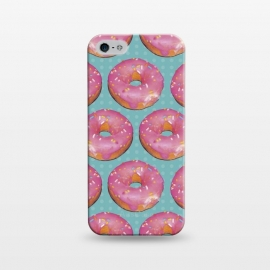 iPhone 5/5E/5s  Mini Donuts by Dellán (Donuts,gourmet,collage,pattern,pink,food,gender neutral,foodie,chef,love,fashion,sugar,sweet,snack,photography)