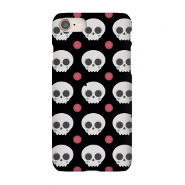 iPhone 8/7  Skulls Pattern by Dellán (skull,spooky,funny,halloween,witch,katrina,pattern,black and white,skeleton)