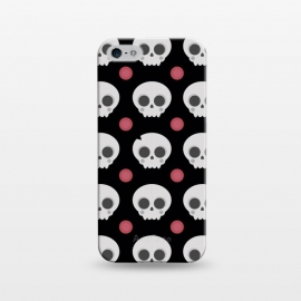 iPhone 5/5E/5s  Skulls Pattern by Dellán (skull,spooky,funny,halloween,witch,katrina,pattern,black and white,skeleton)