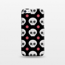 iPhone 5C  Skulls Pattern by Dellán (skull,spooky,funny,halloween,witch,katrina,pattern,black and white,skeleton)