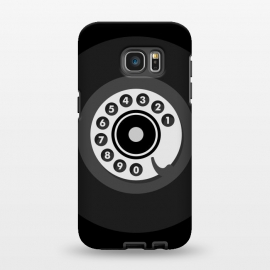 Galaxy S7 EDGE  Vintage Black Phone by Dellán