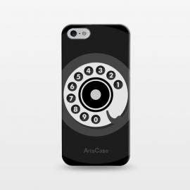 iPhone 5/5E/5s  Vintage Black Phone by Dellán (smartphone,phone,retro,vintage,classic,old fashioned,black,geek,hipster,collectable,80's,70's,60´s,50´s,old,antique,telephone)