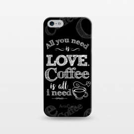 iPhone 5/5E/5s  Love & Coffee by Dellán (coffee,love,music,song,pleasure,food,gourmet,geek,hipster,gender neutral,fashion,MINIMALISM,QUOTES,TEXT,RETRO,VINTAGE,CLASSIC,POP MUSIC,ROCK AND ROLL)