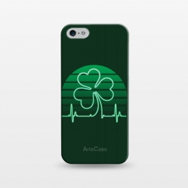 iPhone 5/5E/5s  IRISH-HEART by RAIDHO (IRISH,ST.PATRICK'S-DAY,CLOVER,HEART,cardiogramm)