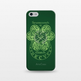 iPhone 5/5E/5s  MARCH 17th by RAIDHO (st.patrick's day,irish,celtic,clover,irish dance,love,celtic knots,knotwork)