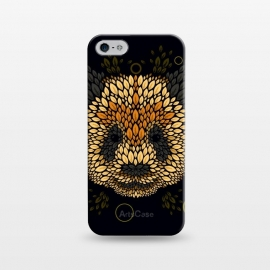 iPhone 5/5E/5s  Panda face by Q-Artwork (panda,animal,leaves,leaf,pattern,nature,vector,geometric)