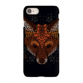 iPhone 7 SlimFit Fox Face by Q-Artwork (fox,animal,nature,leaves,leaf,pattern,vector,geometric)