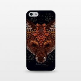 iPhone 5/5E/5s  Fox Face by Q-Artwork (fox,animal,nature,leaves,leaf,pattern,vector,geometric)
