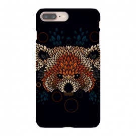 iPhone 8/7 plus  Red Panda Face by  (red panda,nature,panda,cute,vector,pattern,leaves,leaf,geometric)