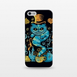 iPhone 5/5E/5s  Wonderland Impressions by Q-Artwork (alice in wonderland,cheshire cat,literature,lewis carrol,classic,tea,cat,animal,art,impressionism,painting,mad hatter)