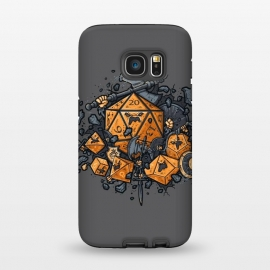 Galaxy S7 StrongFit RPG United by Q-Artwork (rpg,dnd,dungeons and dragons,dices,critical hit,adventure,role play,weapons,medieval,middle age,game,gamer,d20)