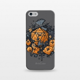 iPhone 5/5E/5s  RPG United by Q-Artwork (rpg,dnd,dungeons and dragons,dices,critical hit,adventure,role play,weapons,medieval,middle age,game,gamer,d20)