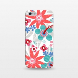 iPhone 5/5E/5s  Club Tropicana by Kimrhi Studios (floral,botanical,nature,leaves,hawaii,flowers)