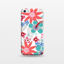 iPhone 5C  Club Tropicana by Kimrhi Studios (floral,botanical,nature,leaves,hawaii,flowers)