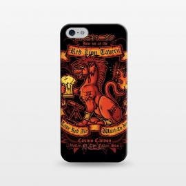 iPhone 5/5E/5s  Red Lion Tavern by Q-Artwork (ff7,final fantasy,red xiii,cosmo canyon,cosmo memory,videogame,video game,gamer,rpg,jrpg,beer,flyer,pub,drink)
