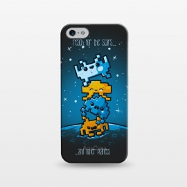 iPhone 5/5E/5s  Cute Invaders by Q-Artwork (cute,kawaii,space invaders,video game,space,gamer,alien,planets)