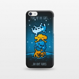 iPhone 5C  Cute Invaders by Q-Artwork