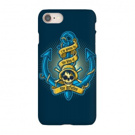 iPhone 7 SlimFit King Of Pirates by Q-Artwork (pirate,anchor,sea,ocean,skull,anime,one piece,japan,king)