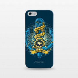 iPhone 5/5E/5s  King Of Pirates by Q-Artwork (pirate,anchor,sea,ocean,skull,anime,one piece,japan,king)