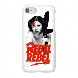 iPhone 7 SlimFit Rebel Rebel by Alisterny (star-wars, starwars, the-force, theforce, resistance, disney, leia, princess-leia, princessleia, Carrie-Fisher, CarrieFisher, rebel, lucas-film, lucasfilm, classicrock, rock, bowie, davidbowie, david-bowie, rebel-rebel, rebelrebel, lightning-bolt, lightningbolt, Aladdin-Sane, AladdinSane, david-bowi)