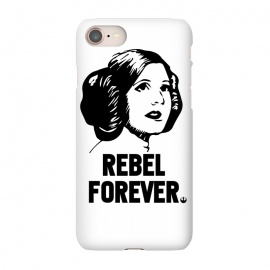 iPhone 8/7 SlimFit Rebel Forever by Alisterny (star-wars, starwars, the-force, theforce, resistance, disney, leia, princess-leia, princessleia, Carrie-Fisher, CarrieFisher, rebel, lucas-film, lucasfilm,mashup, mashups, funny, popculture, funnytshirt, funnyshirt, tshirt, parody, nerd, geek, geeky, humor, humour, fanart, fan art, movies, movie, fi)
