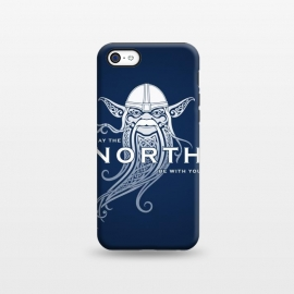iPhone 5C StrongFit NORTH by RAIDHO (star wars,yoda,vikings,may the force be with you,parody,knotwork)