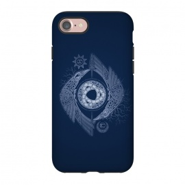 iPhone 8/7  ODIN'S EYE by RAIDHO (ODIN,odin's eye,vikings,spear,ravens,hugin and munin,knotwork,nordic mythology,sun and moon,runes,futhark,night,mystery)