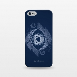 iPhone 5/5E/5s  ODIN'S EYE by RAIDHO (ODIN,odin's eye,vikings,spear,ravens,hugin and munin,knotwork,nordic mythology,sun and moon,runes,futhark,night,mystery)