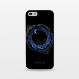 iPhone 5/5E/5s  MOONLIGHT ROUNDELAY ( Raven's Eye ) by RAIDHO (RAVENS,raven's eye,knotwork,moon,moonlight,stars,night,mystery)