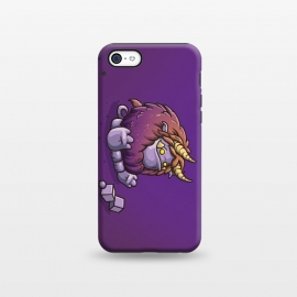 iPhone 5C StrongFit Cute Behemoth by Q-Artwork (cute,monster,behemoth,kawaii,fantasy,kids,character design)