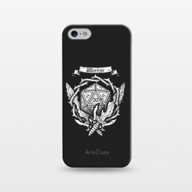 iPhone 5/5E/5s  Warrior Crest by Q-Artwork (dnd,dungeons and dragons,crest,warrior,weapons,sword,blade,rpg,role play,gamer,gaming,adventure)