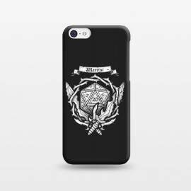 iPhone 5C  Warrior Crest by Q-Artwork (dnd,dungeons and dragons,crest,warrior,weapons,sword,blade,rpg,role play,gamer,gaming,adventure)
