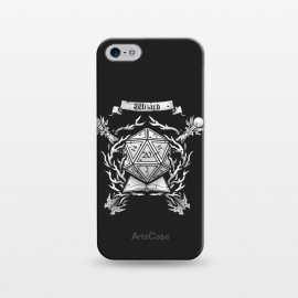 iPhone 5/5E/5s  Wizard Crest by Q-Artwork (dnd,dungeons and dragons,role play,rpg,adventure,critical hit,d20,magic,wizard,mage,spell)