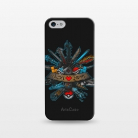 iPhone 5/5E/5s  Gamer Forever by Q-Artwork (gamer,gaming,videogame,weapons,final fantasy,diablo,bioshock,portals,halo,mass effect,gears of war,kingdom hearts)