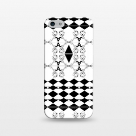 iPhone 5/5E/5s  Black and White by Karim Luengo (vector,pattern,illustration,geometric,black,white)