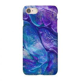 iPhone 7 SlimFit AC9 by Ashley Camille (purple,blue,glitter,paint,painting)