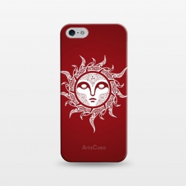 iPhone 5/5E/5s  MIDWINTER SUN by RAIDHO (SUN,SUN-FACE,WHITE EYES,YULE,RAVENS,NORDIC MYTHOLOGY,SUN SIGN,KNOTWORK)