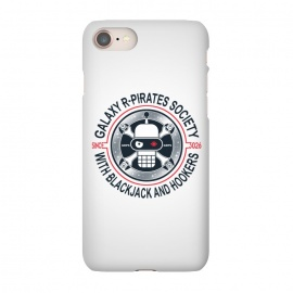 iPhone 7 SlimFit R-PIRATES by RAIDHO (futurama,bender,skull,pirates,galaxy,stars)