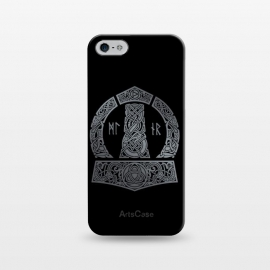 iPhone 5/5E/5s  MJOLNIR by RAIDHO (mjolnir,thor,thor's hummer,vikings,nordic mythology,knotwork,runes,dragons,triquerta)