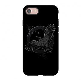 iPhone 8/7  NORTHERN RAVEN ( Path to the North ) by RAIDHO (raven,north,stars,ursa major,night,knotwork)